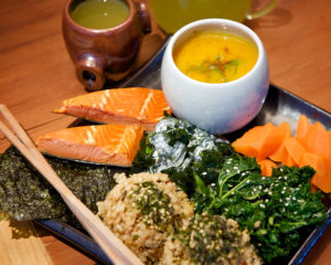 Cooked Kale Tossed in a Tamari Seseme Dressing Isn't the Only Delicious Thing in the Japanese Tea Service
