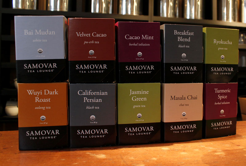 Samovar Tea Lounge Retail Boxes