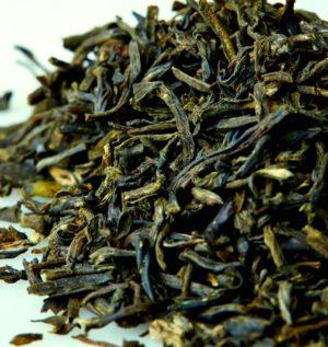 Organic Jasmine Green Tea Leaves -- Macro