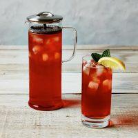 The Tall Vivid Brew Pot with iced tea
