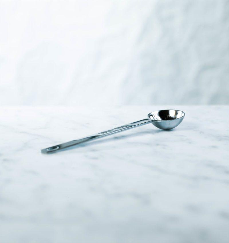 metal teaspoon for measuring tea