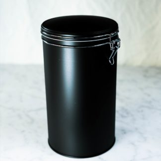 tea canister, black, large