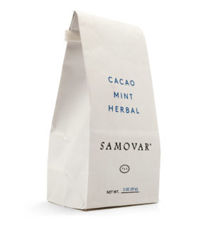 Cacao Mint - White Bag - Front - 0602CAMIBG