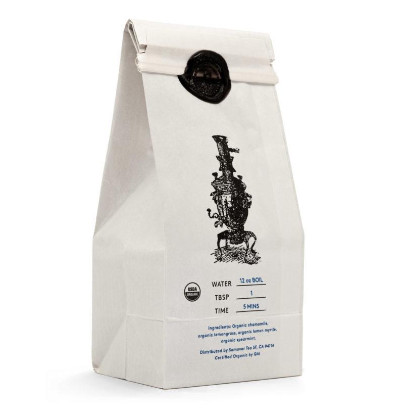 Chamomile Twist - White Bag - Back - 0602CHMEBG