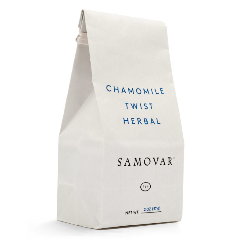 Chamomile Twist - White Bag - Front - 0602CHMEBG