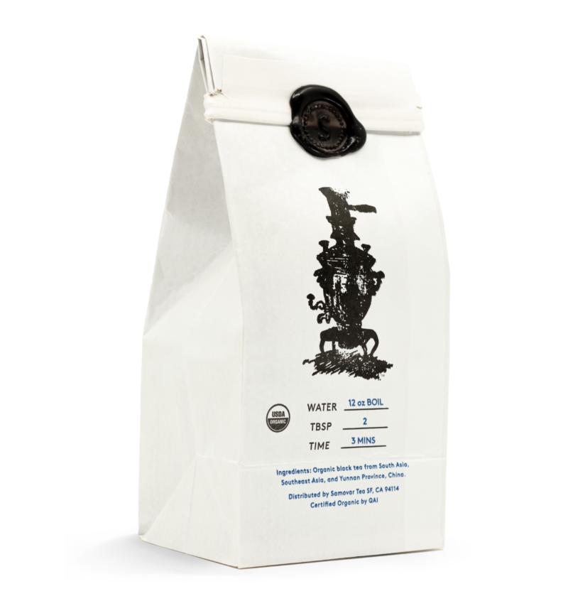 English Breakfast - White Bag - Front - 0401BRBLBG