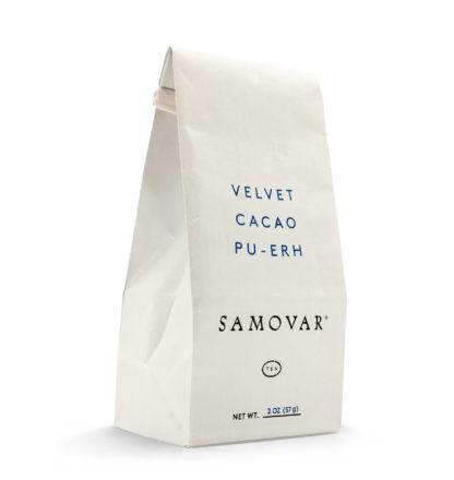 Velvet Cacao - White Bag - Front - 0502VECABG