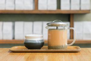 Organic Masala Chai in Vivid Brew Pot with Wabi Sabi Mug